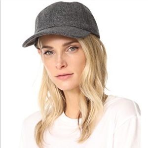 Madewell wool blend baseball cap hat heather grey